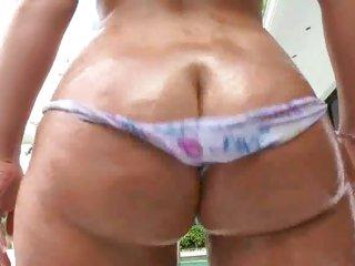 MILF Bella Reece undresses to show her bubble butt