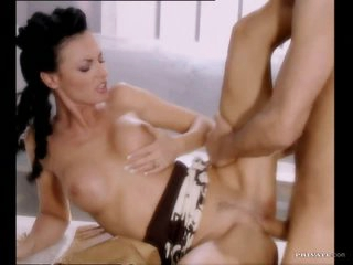 Slutty Brunette MILF Laura Girl Can't live without a Large Fat Cock